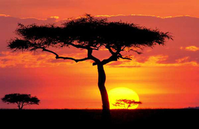 East Africa sunset